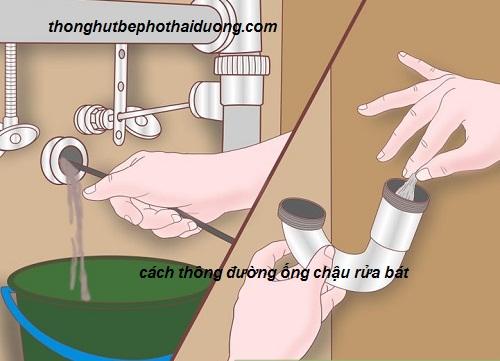 cách thông đường ống chậu rửa bát