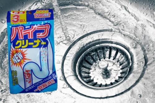 Cách sử dụng bột thông cống Nhật hiệu quả tại nhà